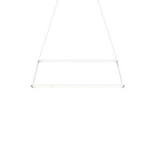 Z-Bar Matte White 40-Inch Soft Warm LED Rectangle Pendant