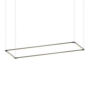 Z-Bar Matte Black 16 x 48 Inch Rectangle LED Pendant