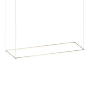 Z-Bar Silver 16 x 48 Inch Rectangle LED Pendant