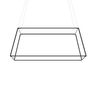 Z-Bar Matte Black 51-Inch Soft Warm LED Square Pendant