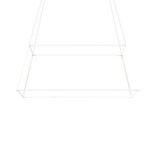 Z-Bar Matte White 51-Inch Soft Warm LED Square Pendant