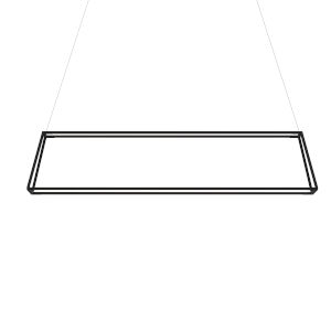 Z-Bar Matte Black 14-Inch Soft Warm LED Rectangle Pendant