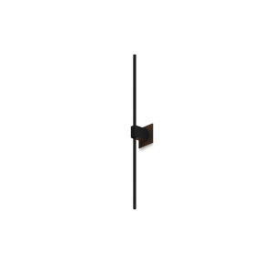 Z-Bar Matte Black Soft Warm LED Wall Sconce