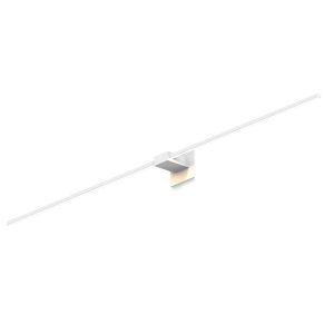 Z-Bar Matte White 60-Inch Soft Warm LED Center Mount Wall Sconce