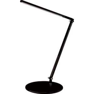 Z-Bar Solo Black LED Desk Lamp with Base - Warm Light