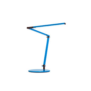 Blue LED Desk Lamp with Base -Warm Light