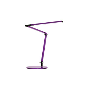 Purple LED Desk Lamp with Base -Warm Light