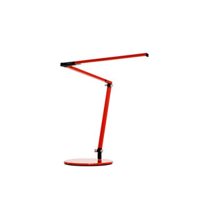 Red LED Desk Lamp with Base Warm Light