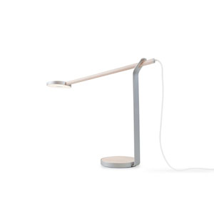 Silver Gravy LED Desk Lamp with Warm light