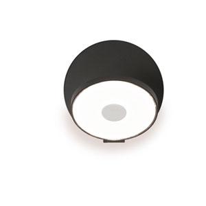 Gravy Metallic Black Plug-In LED Wall Sconce