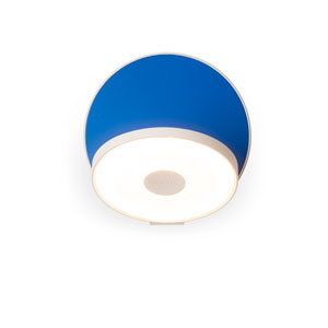 Gravy Matte Blue Plug-In LED Wall Sconce