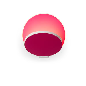 Gravy Matte Hot Pink Plug-In LED Wall Sconce