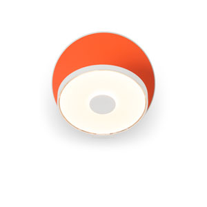 Gravy Matte Orange Hardwired LED Wall Sconce