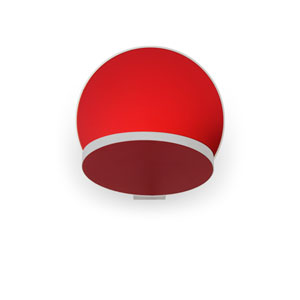 Gravy Matte Red Plug-In LED Wall Sconce