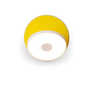 Gravy Matte Yellow Plug-In LED Wall Sconce
