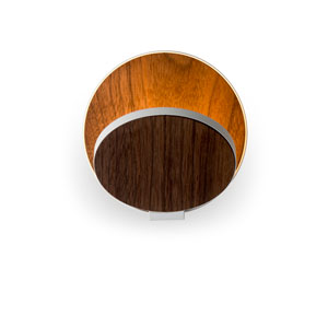 Gravy Oiled Walnut Plug-In LED Wall Sconce