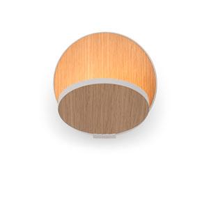 Gravy White Oak Plug-In LED Wall Sconce