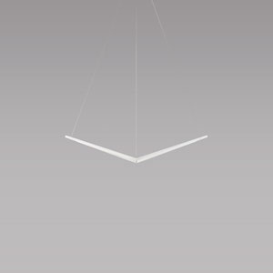 Z-Bar Pendant Matte White 34-Inch LED  Damp Rated Bird Pendant