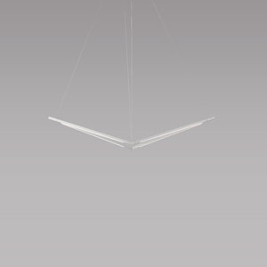 Z-Bar Pendant Silver 34-Inch LED  Damp Rated Bird Pendant