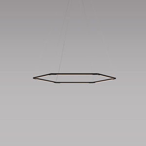 Z-Bar Pendant Matte Black 36-Inch LED Damp Rated Honeycomb Pendant