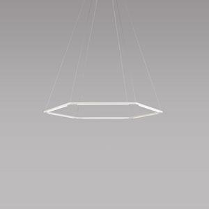 Z-Bar Pendant Matte White 35-Inch LED Damp Rated Honeycomb Pendant