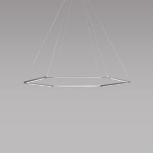 Z-Bar Pendant Silver 36-Inch LED Damp Rated Honeycomb Pendant