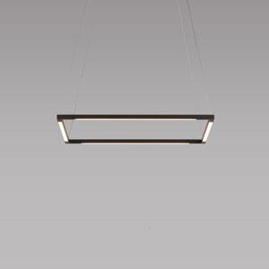 Z-Bar Pendant Matte Black 18-Inch LED Square Pendant