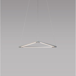 Z-Bar Pendant Silver 18-Inch LED Damp Rated Triangle Pendant