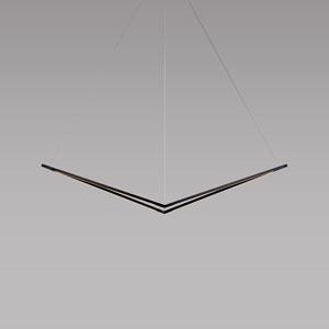 Z-Bar Pendant Matte Black 49-Inch LED Damp Rated Bird Pendant