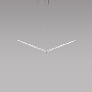 Z-Bar Pendant Matte White 49-Inch LED Damp Rated Bird Pendant