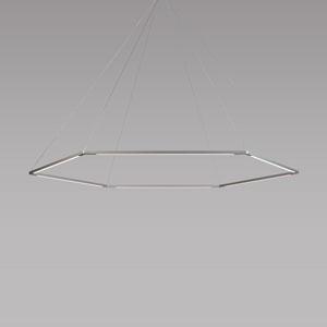 Z-Bar Pendant Silver 52-Inch LED Honeycomb Pendant