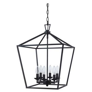 Lacey Oil Rubbed Bronze 16-Inch Six-Light Pendant