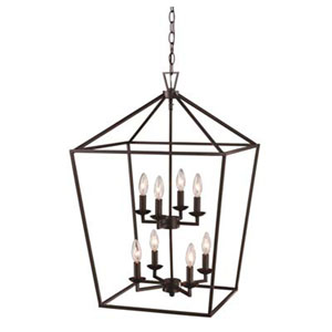 Lacey Oil Rubbed Bronze 19-Inch Eight-Light Pendant