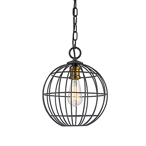 Byway Rubbed Oil Bronze and Antique Gold One-Light Pendant