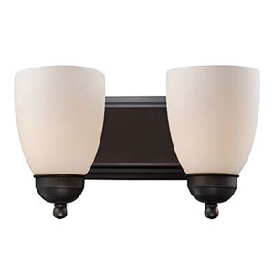 Clayton Oil Rubbed Bronze 14-Inch Two-Light Bath Vanity