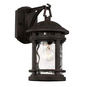 Boardwalk Rust Seven-Inch One-Light Wall Lantern