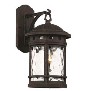 Boardwalk Rust Nine-Inch One-Light Wall Lantern