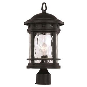 Boardwalk Black Nine-Inch One-Light Post Mount Lantern