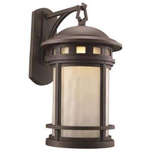 Boardwalk Rust Nine-Inch One-Light Post Mount Lantern