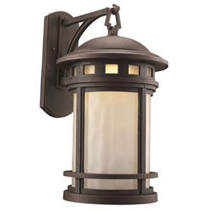 Boardwalk Rust 11-Inch One-Light Post Mount Lantern