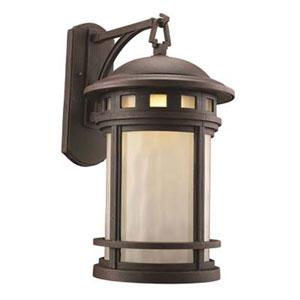 Boardwalk Rust Nine-Inch One-Light Hanging Lantern