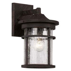 Avalon Rust Seven-Inch One-Light Wall Lantern
