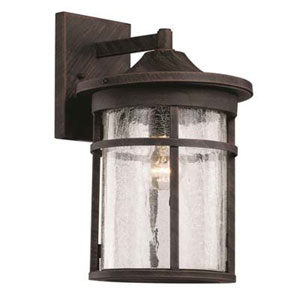 Avalon Rust 11-Inch One-Light Wall Lantern