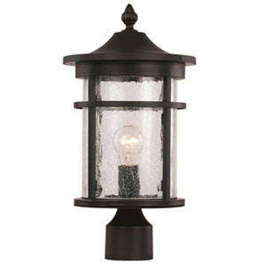 Avalon Black Nine-Inch One-Light Post Mount Lantern