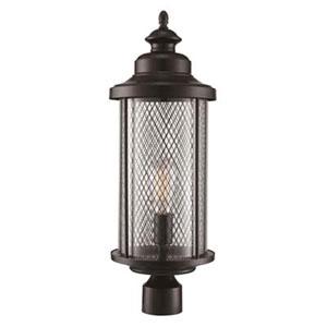 Stewart Black Six-Inch One-Light Post Mount Lantern