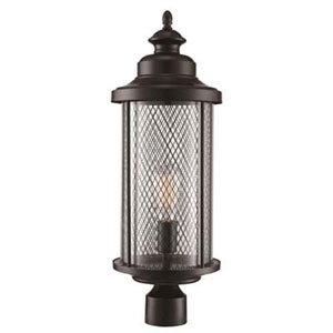 Stewart Black Eight-Inch One-Light Post Mount Lantern