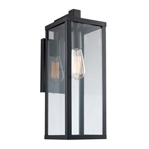 Oxford Black Six-Inch One-Light Wall Lantern