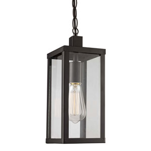 Oxford Black Five-Inch One-Light Hanging Lantern