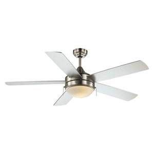 Cappleman Brushed Nickel 52-Inch Two-Light Ceiling Fan