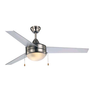 Cappleman Brushed Nickel and Silver 52-Inch Two-Light Ceiling Fan